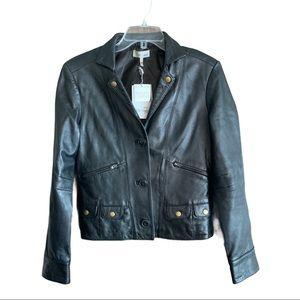 Women's Metro 7 black leather jacket. Size 4.